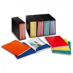 ELBA Conteneur noir + 3 chemises coloris assortis carton rigide Alpina. Dos 2,5cm.