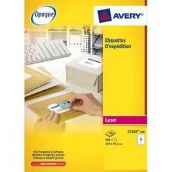 AVERY Boîte de 400 étiquettes laser blanc 99.1X139mm L7169-100