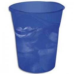 CEP Corbeille à papier Happy bleu électrique. Dimensions : L29 x H33,4 x P30,5 cm