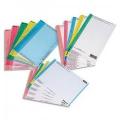 OBLIQUE AZ Sachet de 10 planches d'étiquettes pour dossiers tiroir assortis