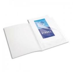 VIQUEL Protège-documents translucide A3, 40 vues/20 pochettes, couverture 7/10e, pochettes 7/100e