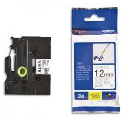 BROTHER Ruban pour PTOUCH flexible laminé 12mm noir/blanc TZEFX231