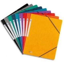 ELBA Chemise simple à élastique Topfile , en carte lustrée 5/10e coloris assortis