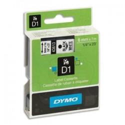 DYMO Ruban D1 noir/BLANC 6MMX7M pour 1000/1000+/2000/3500/4500/5000/5501 S0720780