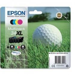 "EPSON Cartouche multipack ""balle de golf"" jet d'encre durabrite ultra nr/cyan/magenta/jne XL C13T34764010"