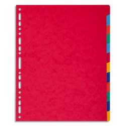 EXACOMPTA Jeu d'intercalaires 12 positions maxi format pour pochettes, en carte lustrée 5/10e