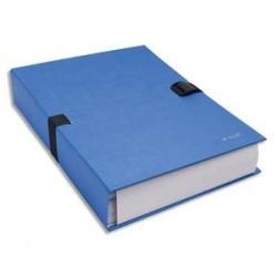 EXACOMPTA Chemise extensible 223500 , recouverte de papier contrecollé bleu