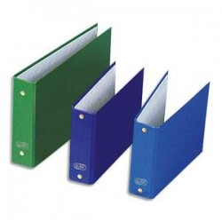 ELBA Classeurs à fiches format A5 à 2 anneaux de 25 mm en balacron coloris assortis