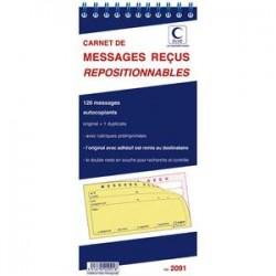 ELVE Carnet de 120 messages reçus autocopiant repositionnables