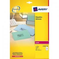 AVERY Pochette de 350 étiquettes laser invisible 99.1X38.1 L7563-25