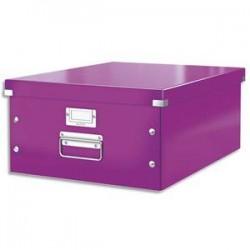 LEITZ Boîte CLICK&STORE L-Box. Format A3 - Dimensions : L36,9xH20xP48,2cm. Coloris violet.