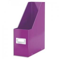 LEITZ Porte-revues Click&Store WOWen carton recouvert de polypropylène. Dos 10 cm. Coloris violet.