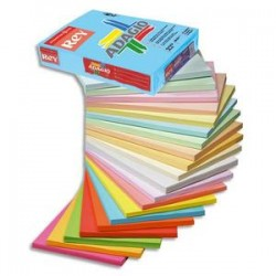 PAPYRUS Ramette 500 feuilles papier couleur pastel ADAGIO ivoire pastel A3 80g