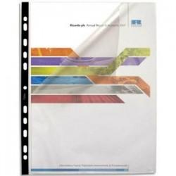 ELBA Sachet de 10 pochettes perforées FLEXIDOC en polypro lisse 8/100. Format A4, 11 trous renforcés.