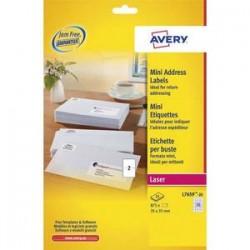 AVERY Boîte de 875 mini-étiquettes laser blanches 35 x 35 mm. L7659-25.