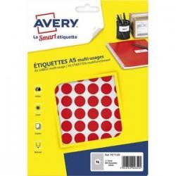 AVERY Sachet de 960 pastilles Ø15 mm. Imprimables. Coloris rouge.