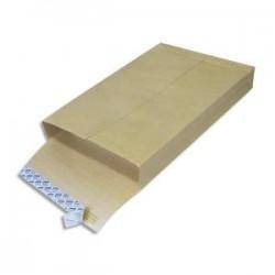 GPV Boite de 250 pochettes kraft armé blanches avec 3 soufflets format 24-260x330mm
