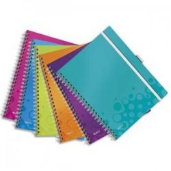 LEITZ Cahier BE MOBILE spirales A4 160 pages détachables 80g A4 ligné. Couverture polypro assortis