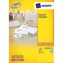 AVERY Boîte de 300 étiquettes enlevables 99,1 x 42,3 impression laser L4743REV