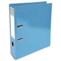 EXACOMPTA Classeur à levier IDERAMA en carton pelliculé. Dos 7 cm. Format A4+. Coloris turquoise