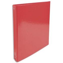 EXACOMPTA Classeur 4 anneaux Ø30mm IDERAMA en carte 18/10ème. Dos 4 cm, format A4. Coloris rouge