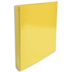 EXACOMPTA Classeur 4 anneaux Ø30mm IDERAMA en carte 18/10ème. Dos 4 cm, format A4. Coloris jaune