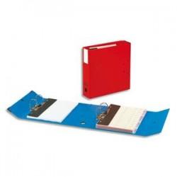 ARIANEX Classeur à deux leviers Millex en PVC intérieur et extérieur bleu, dos de 9.5cm