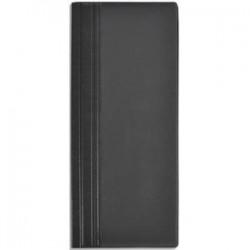 ELBA Porte-cartes de visite Elégance noir capacité 80 cartes en PVC expansé L12 x H27 cm