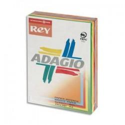 PAPYRUS Ramette 100 feuilles x 5 teintes papier couleur intense ADAGIO assortis intenses A4 80g