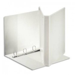 ESSELTE Classeur à couverture personnalisable sur trois faces PP blanc - dos de 4 cm