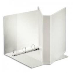 ESSELTE Classeur à couverture personnalisable sur trois faces PP blanc - dos de 6,5 cm