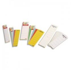 ESSELTE Sachet de 10 étiquettes adhésives pour classeur à levier à dos étroit coloris blanc