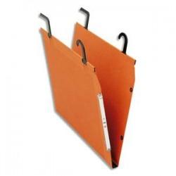 ESSELTE Boîte de 25 dossiers suspendus TMG pour TUBE en kraft 240g. Fond 15, bouton-pression. Orange