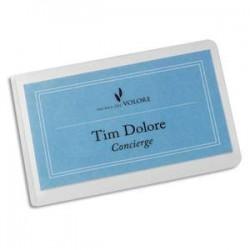 DURABLE Boîte de 10 pochettes de plastification à froid SEAL IT format carte de visite 57x90mm