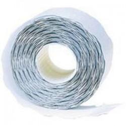 AGIPA Pack 6 roul de 1000 étiquettes blanches rectangulaires enlevables 26x16mm pr pinces 151992-101419