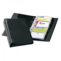 DURABLE Reliure Visifix Economy noire pour 176 cartes de visite Format L14,5 x H25,5 cm