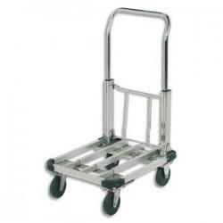 SAFETOOL Chariot pliable aluminium largeur 40 cm, longueur 50 à 72 cm