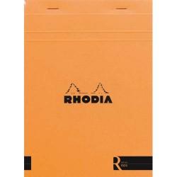 """RHODIA Bloc """"coloR"""" agrafé en-tête 14,8x21 (n°16) 140 pages lignées. Couverture rembordée orange"""