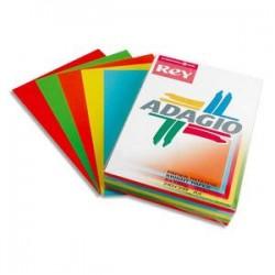 PAPYRUS Ramette 50 feuilles x 5 teintes papier couleur intense ADAGIO assortis intenses  A4 160g