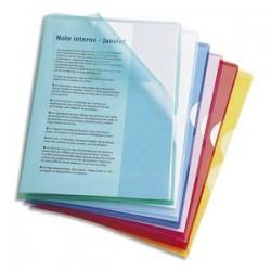 ELBA Boîte de 50 Pochettes-coin Fard'Or coloris assortis en PVC 13,5/100e