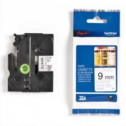 BROTHER Ruban noir/blanc non laminé 9MM TZEN221 pour P-TOUCH 200/210/220/300/310/340/350/540/550//1200/18