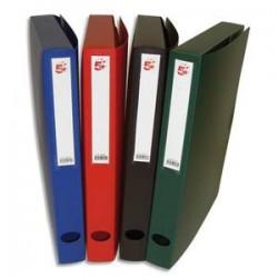 5 ETOILES Boîte de classement dos de 4 cm, en polypropylène 7/10e assortis