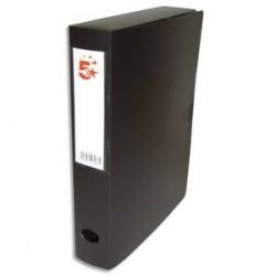 5 ETOILES Boîte de classement dos de 6 cm, en polypropylène 7/10e noir