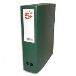 5 ETOILES Boîte de classement dos de 8 cm, en polypropylène 7/10e vert