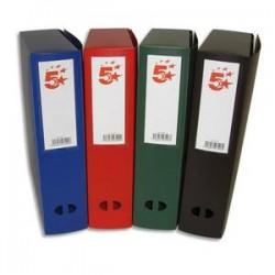 5 ETOILES Boîte de classement dos de 8 cm, en polypropylène 7/10e assortis