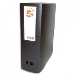 5 ETOILES Boîte de classement dos de 10 cm, en polypropylène 7/10e noir