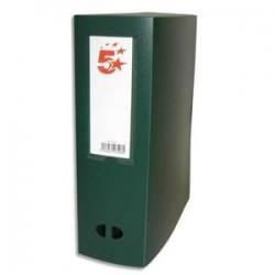 5 ETOILES Boîte de classement dos de 10 cm, en polypropylène 7/10e vert