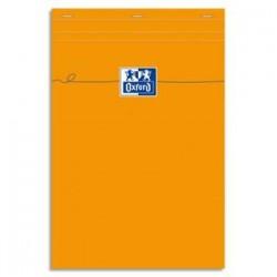 OXFORD Bloc de direction agrafé en tête 160 pages 80g unies 21x29,7 Couverture orange