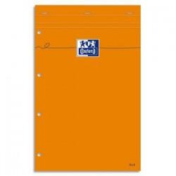 OXFORD Bloc de direction agrafé en tête 160 pages 80g lignées 21x32 Couverture orange