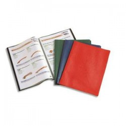 ELBA Protège-documents 60vues assortis Hunter, couv. en PVC 34/100e, pochettes en polypropylène 6/100e